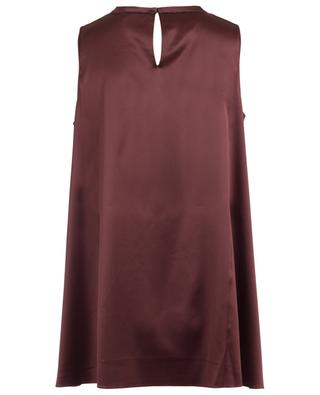 Sleeveless silk blend top BRUNELLO CUCINELLI